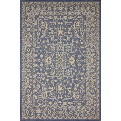 Apple Crest Blue Outdoor Area Rug Rug Size: Rectangle 9 x 12