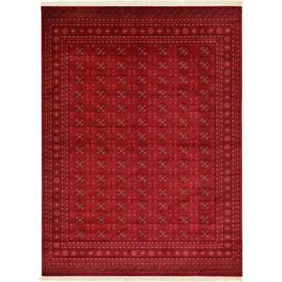Kowloon Dark Red Area Rug Rug Size: 9 x 12