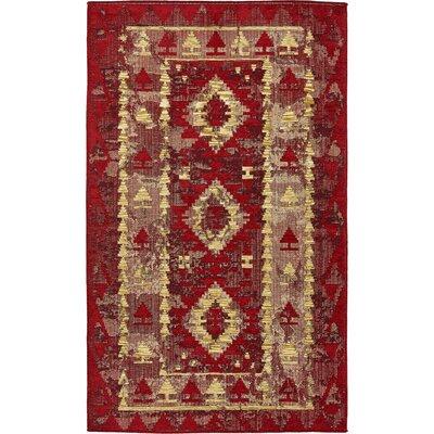 Bhakta Red Area Rug Rug Size: 5 x 8