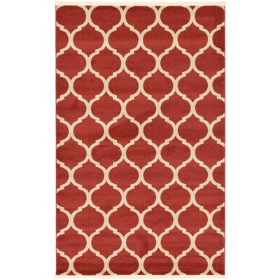 Moore Red Area Rug Rug Size: 5' x 8'