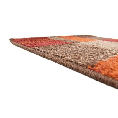 Bryan Burgundy/Orange Area Rug Rug Size: 9 x 12