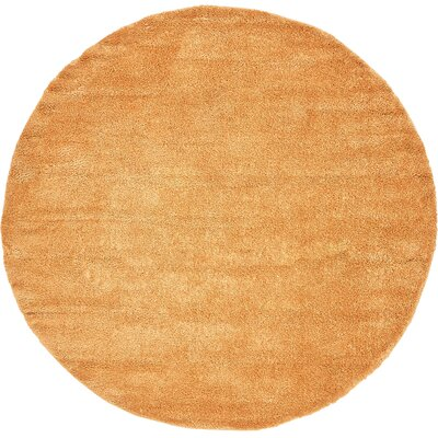 Craig Orange Area Rug Rug Size: Round 8