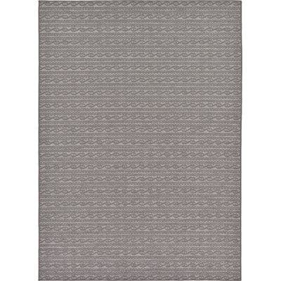 Madeline Gray Outdoor Area Rug Rug Size: 7 x 10