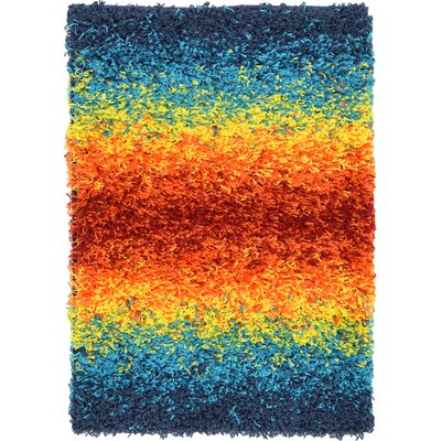 Suzanne Blue/Yellow/Orange Area Rug Rug Size: 22 x 3