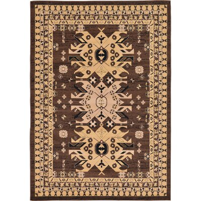 Valley Brown Area Rug Rug Size: 7 x 10