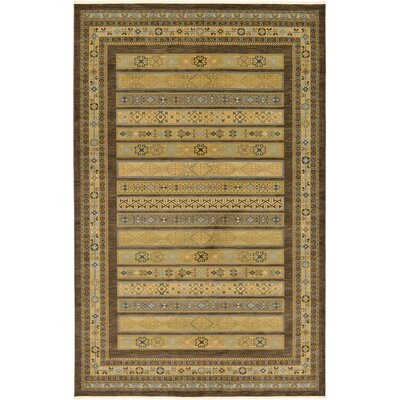 Foret Noire Brown Area Rug Rug Size: 106 x 165