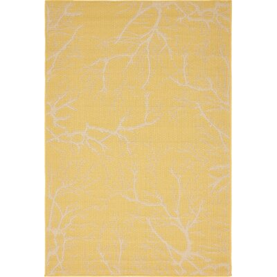 Amsterdam Yellow Outdoor Area Rug Rug Size: 4 x 6