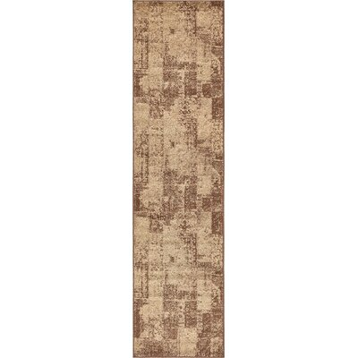 Weese Brown Area Rug Rug Size: Runner 26 x 10
