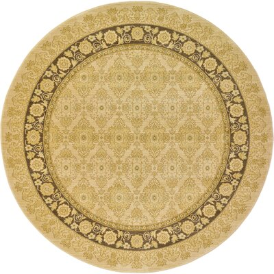 Fonciere Cream Area Rug Rug Size: Round 8