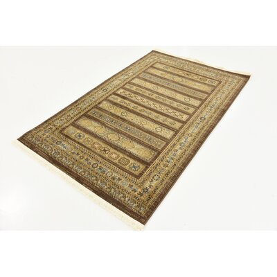 Foret Noire Brown Area Rug Rug Size: 33 x 53