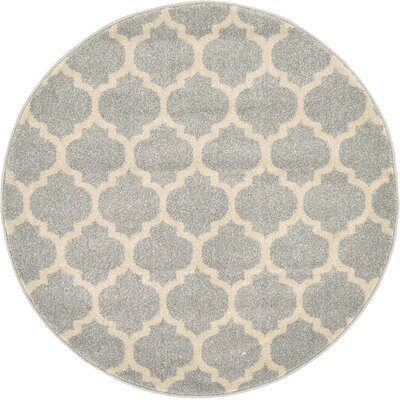 Moore Gray Area Rug Rug Size: Round 3