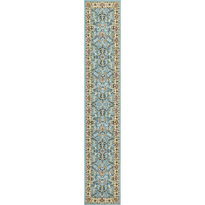 Essehoul Light Blue Oriental Area Rug Rug Size: Runner 2 x 8