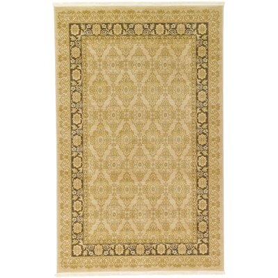 Fonciere Cream Area Rug Rug Size: 5 x 8