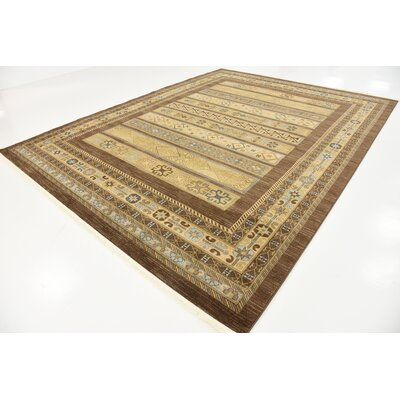 Foret Noire Brown Area Rug Rug Size: 9 x 12