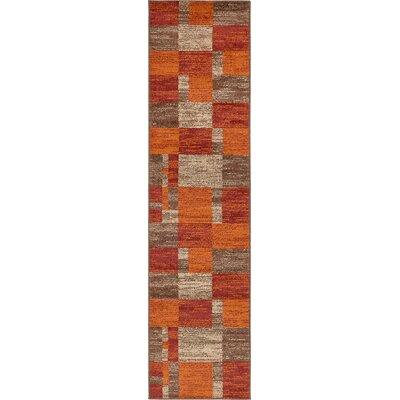 Christie Red/Orange Area Rug Rug Size: Runner 26 x 10