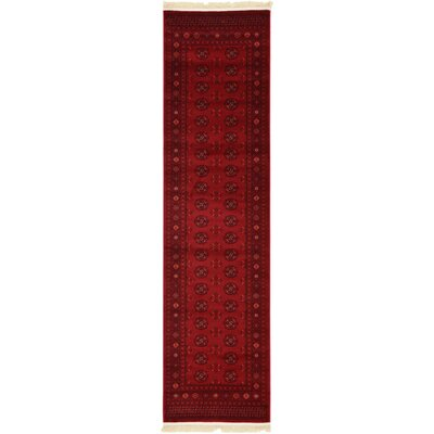 Kowloon Dark Red Area Rug Rug Size: Runner 27 x 10
