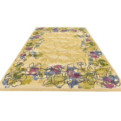 Ronda Pink/Green Indoor/Outdoor Area Rug Rug Size: Rectangle 5 x 8