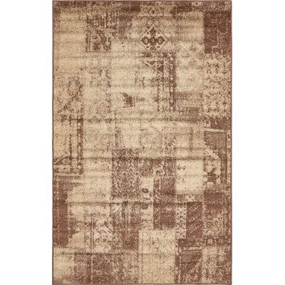 Lilla Brown Area Rug Rug Size: 5 x 8