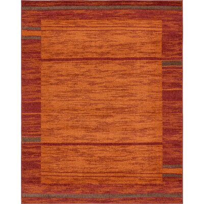 Bryan Stain-resistant Terracotta Tibetan Area Rug Rug Size: 8 x 10