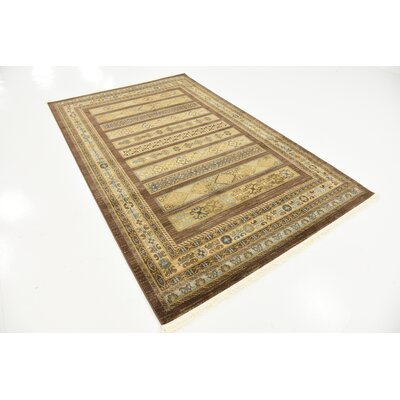 Foret Noire Brown Area Rug Rug Size: 5 x 8
