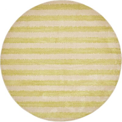 Terrie Light Green Area Rug Rug Size: Round 8