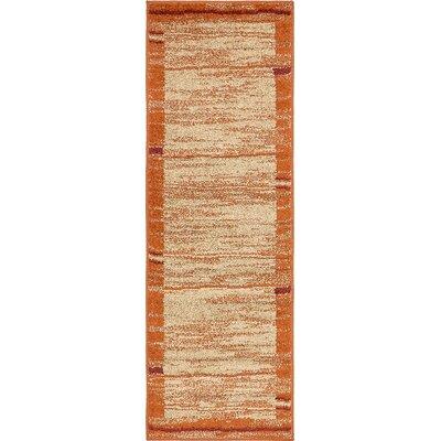 Bryan Terracotta Tibetan Area Rug Rug Size: Runner 2 x 6