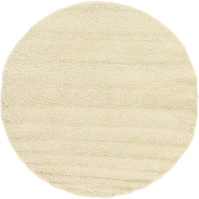 Lilah Basic Ivory Area Rug Rug Size: Round 82, Rug Color: Pure Ivory