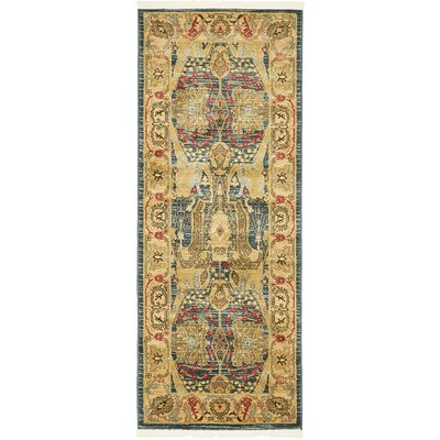 Lerma Gray/Brown Area Rug Rug Size: Runner 27 x 67