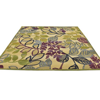 Ronda Cream Indoor/Outdoor Area Rug Rug Size: Square 6