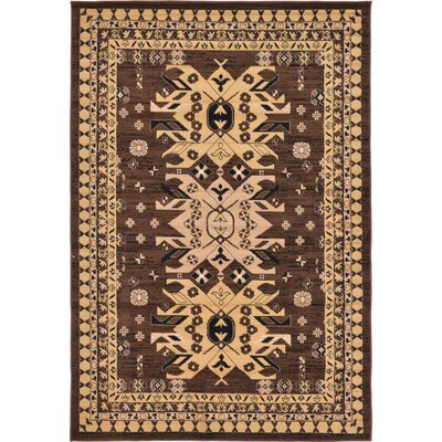 Valley Brown Area Rug Rug Size: 6 x 9