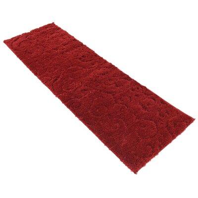 Baynes Floral Red Area Rug Rug Size: Runner 2 x 67