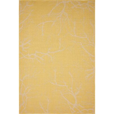 Kopec Yellow Outdoor Area Rug Rug Size: Rectangle 8 x 114