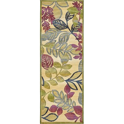 Ronda Cream Indoor/Outdoor Area Rug Rug Size: Runner 2 x 6