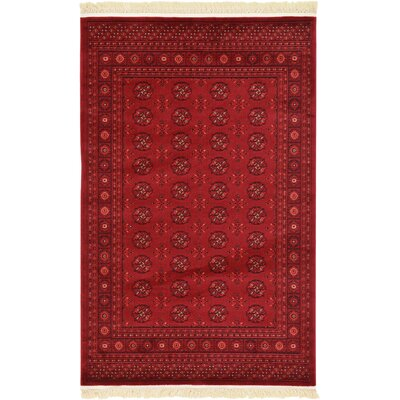 Kowloon Dark Red Area Rug Rug Size: 4 x 6