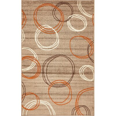 Christie Light Brown Area Rug Rug Size: 5 x 8
