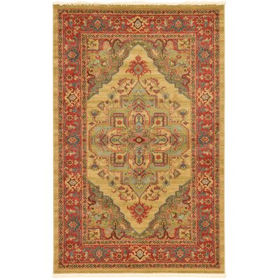 Zoey Light Brown Area Rug Rug Size: Rectangle 5 x 8