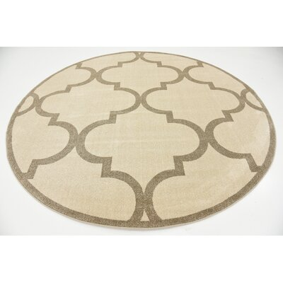 Emjay Beige Area Rug Rug Size: Rectangle 7 x 10