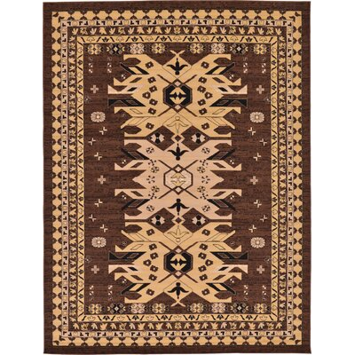 Valley Brown Area Rug Rug Size: 9 x 12