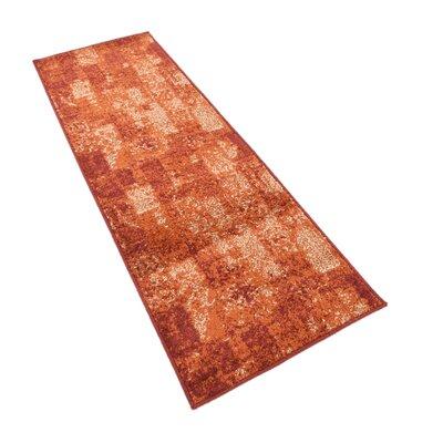 Bannan Stain-Resistant Terracotta Area Rug Rug Size: Runner 26 x 10