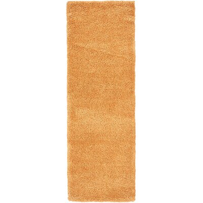 Craig Orange Area Rug Rug Size: Runner 22 x 67