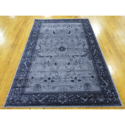 Berthold Blue Area Rug Rug Size: Rectangle 2 x 3