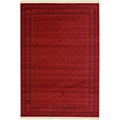 Kowloon Red Area Rug Rug Size: 7 x 10