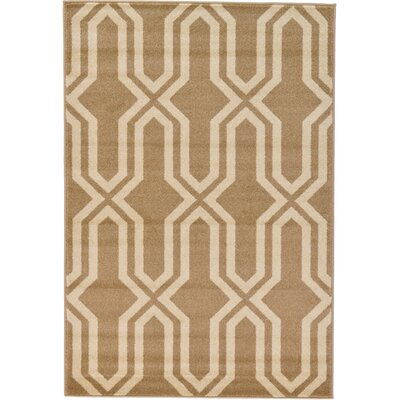 Marika Beige Area Rug Rug Size: Rectangle 4 x 6