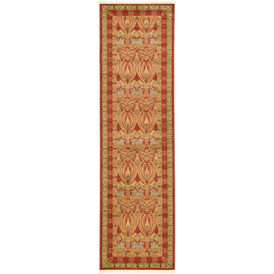 Fonciere Red Area Rug Rug Size: Runner 27 x 10