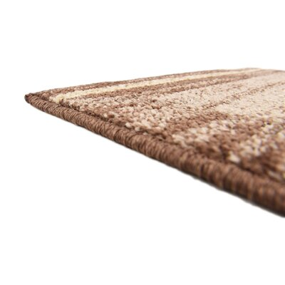 Bryan Stain-resistant Brown Area Rug Rug Size: Rectangle 2 x 3