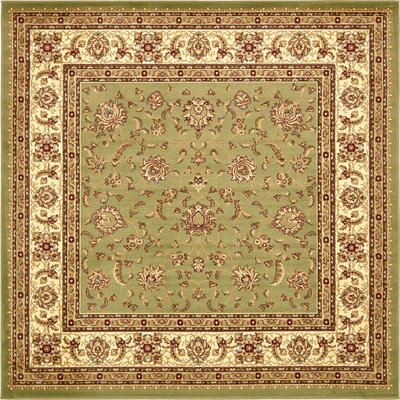 Fairmount Light Green Area Rug Rug Size: Square 8