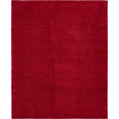 Sydnee Red Area Rug Rug Size: 8 x 10