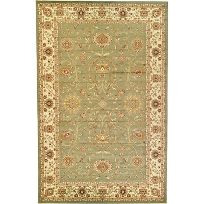 Fairmount Light Green Area Rug Rug Size: 106 x 165