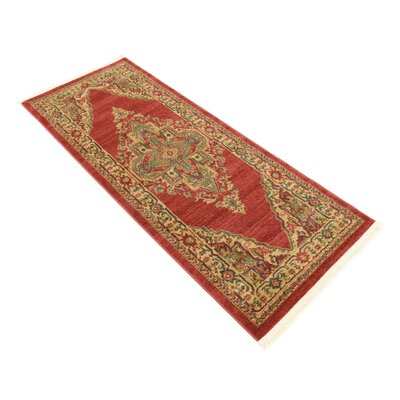 Zoey Red Area Rug Rug Size: Runner 27 x 67