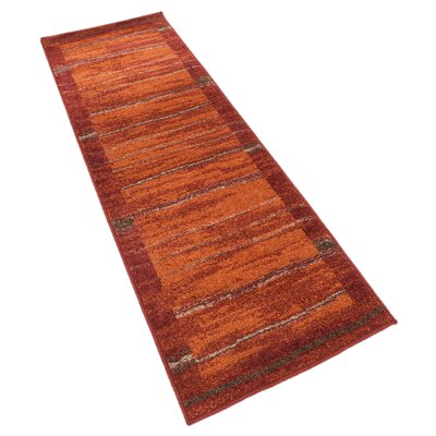 Bryan Stain-resistant Terracotta Tibetan Area Rug Rug Size: Runner 2 x 6